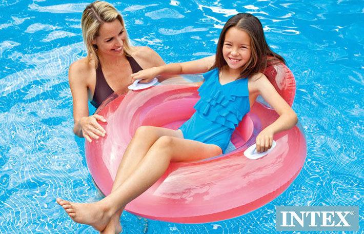 Růžový nafukovací kruh INTEX - průměr 102 cm