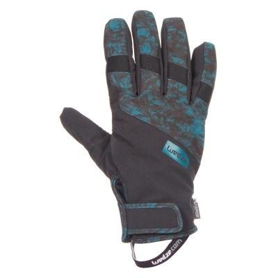 Černo-modré snowboardové rukavice Wed'ze