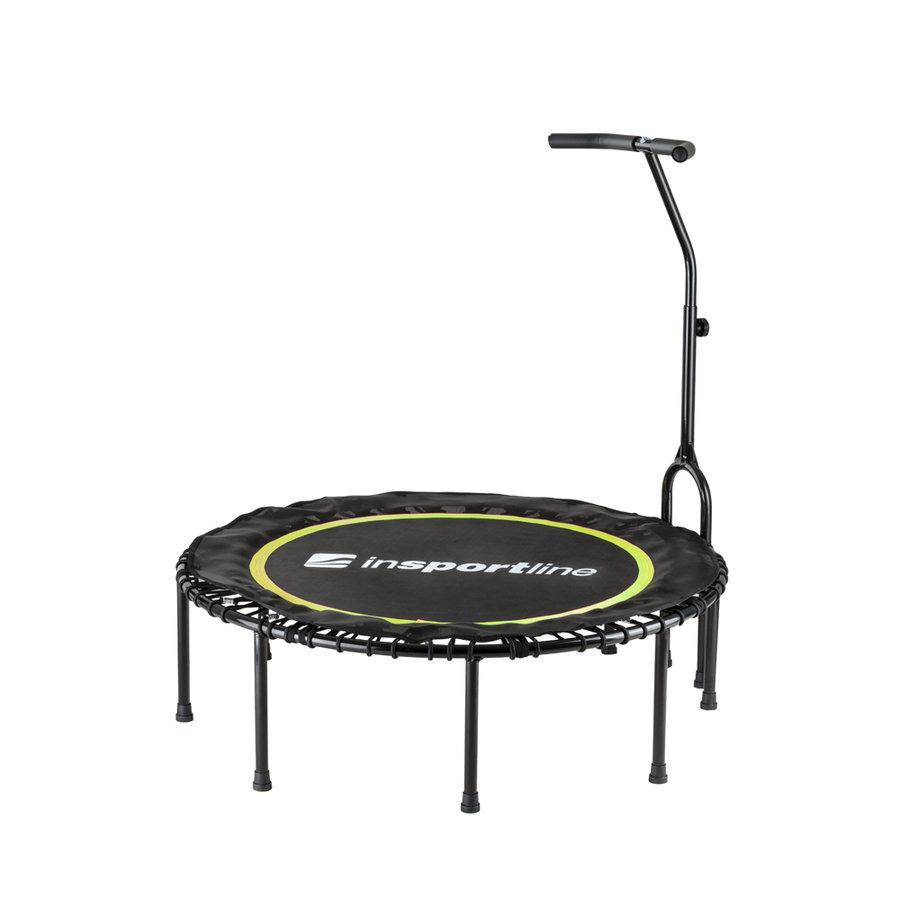 Kruhová fitness trampolína s madlem Insportline - průměr 114 cm