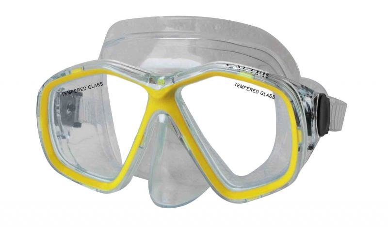 Potápěčská maska - Potápěčská maska CALTER JUNIOR 276P, žlutá