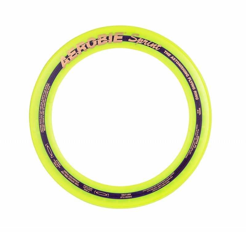Žlutý plastový létající kruh Aerobie - průměr 25 cm
