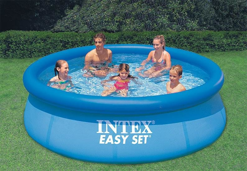 Nadzemní nafukovací kruhový bazén INTEX - objem 7290 l, průměr 396 cm a výška 84 cm