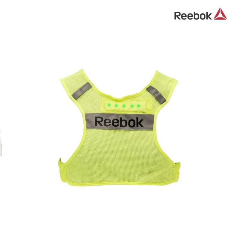Bežecká vesta - Reflexní běžecká vesta Reebok s LED osvětlením S/M