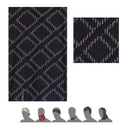 Černý multifunkční šátek Sensor