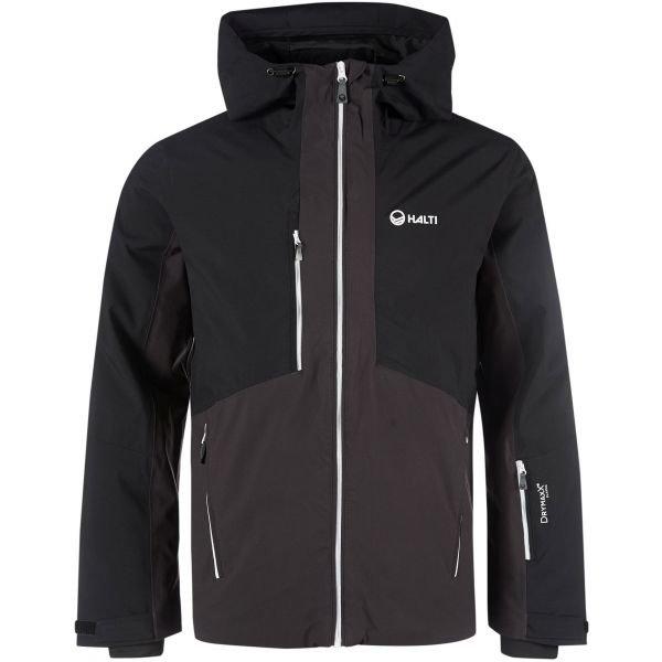 Černo-šedá zimní pánská bunda Halti