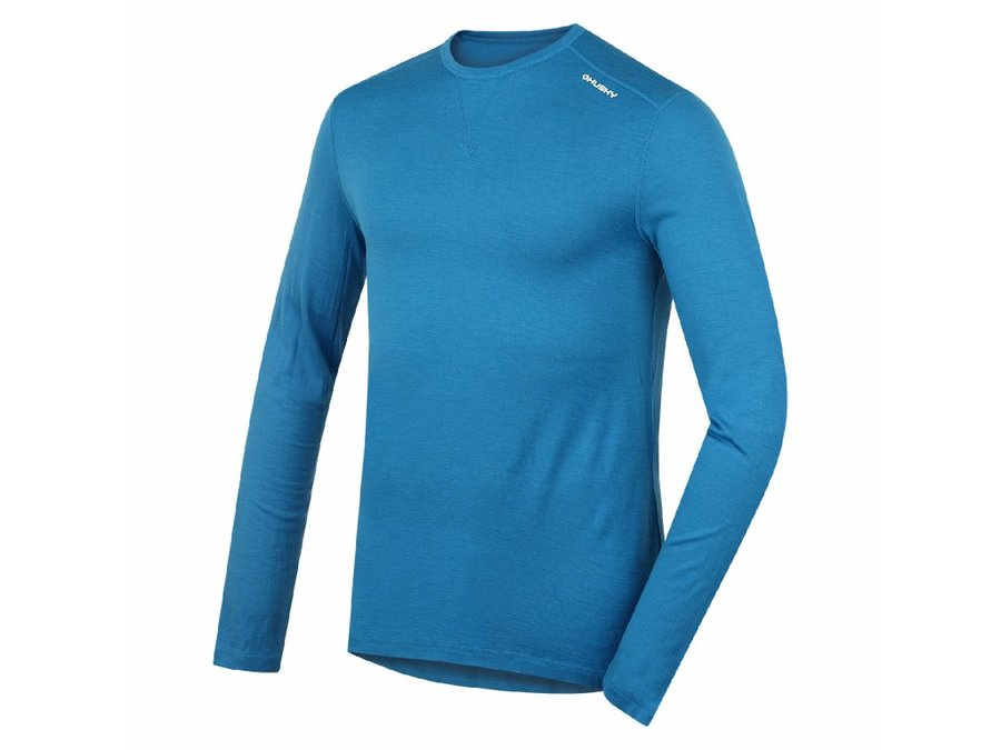 Modré pánské termo tričko s dlouhým rukávem Husky - velikost XXL