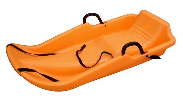 Oranžové dětské boby s brzdami CorbySport