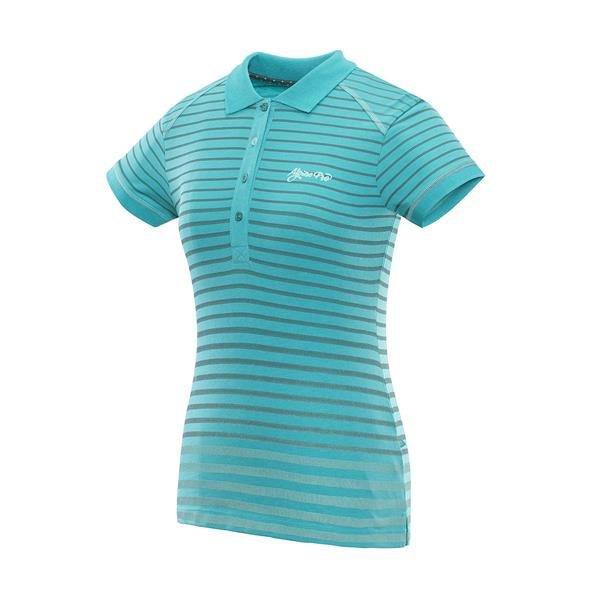 Tyrkysové dámské tričko s krátkým rukávem Alpine Pro - velikost S