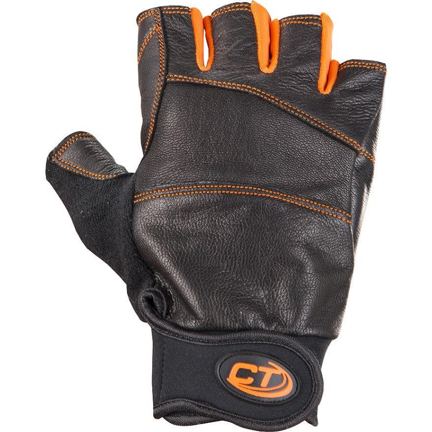 Černo-oranžové ferratové rukavice Climbing Technology