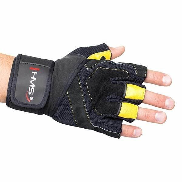 Černé fitness rukavice HMS