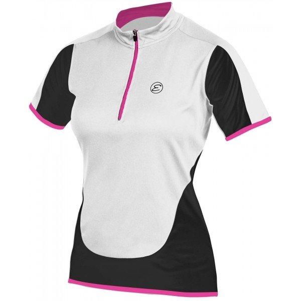 Bílo-černý dámský cyklistický dres Etape - velikost L