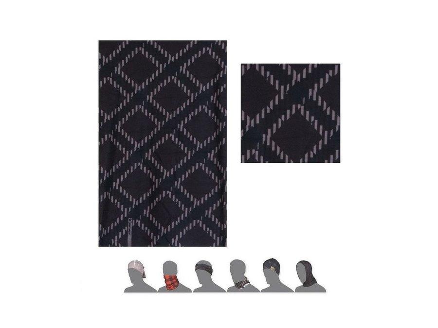 Černo-šedý multifunkční šátek Sensor
