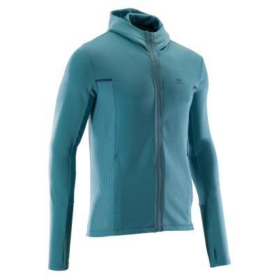 Zelená běžecká bunda Warm, Kalenji