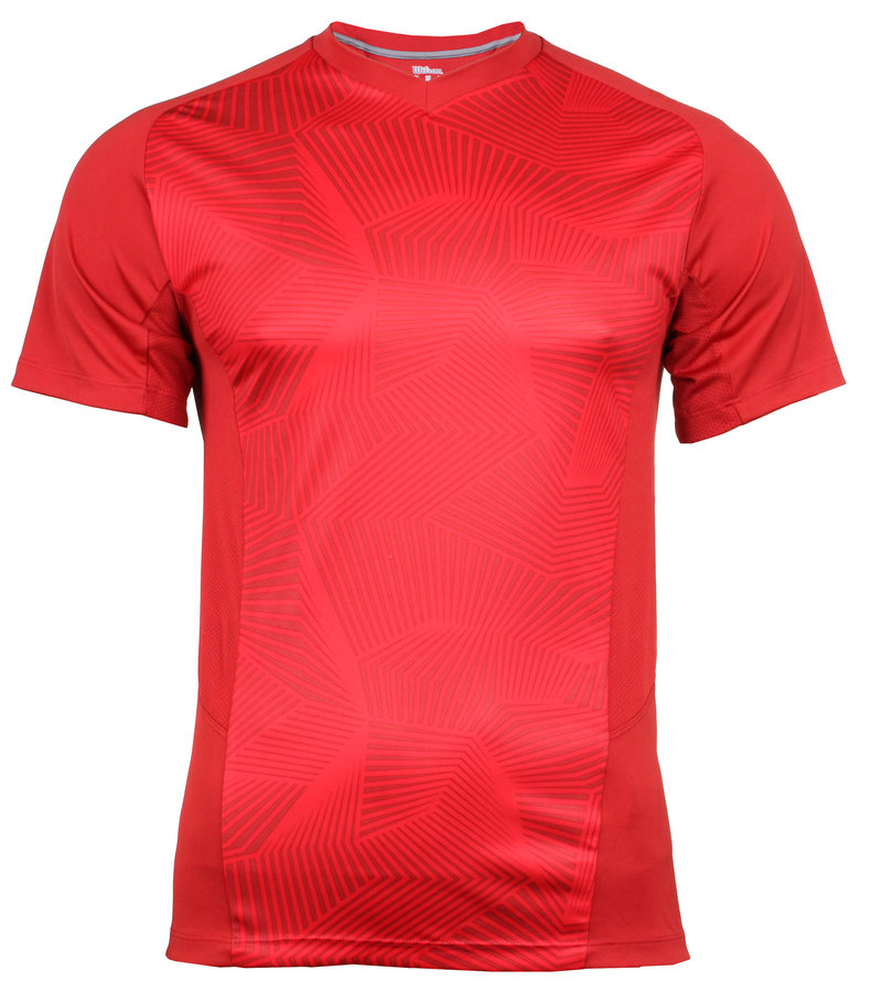 Červené pánské tenisové tričko Wilson - velikost S