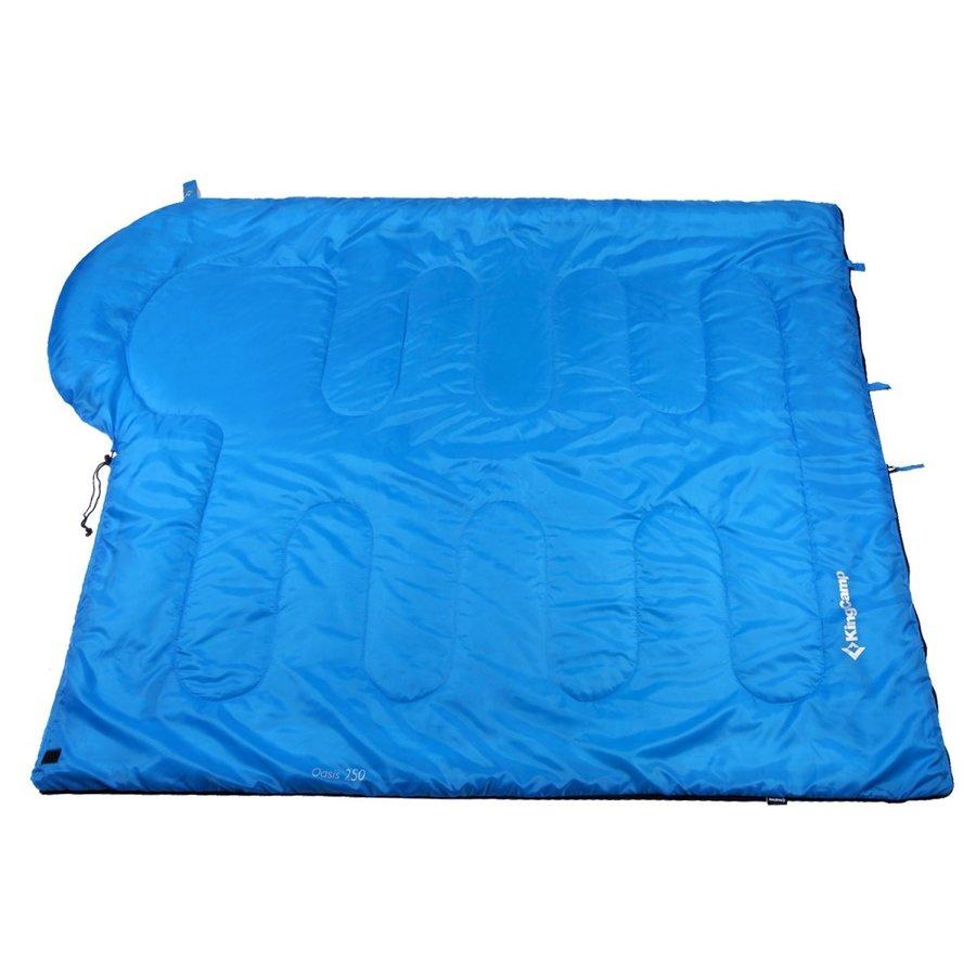 Modrý spací pytel Oasis 250, King Camp - délka 220 cm