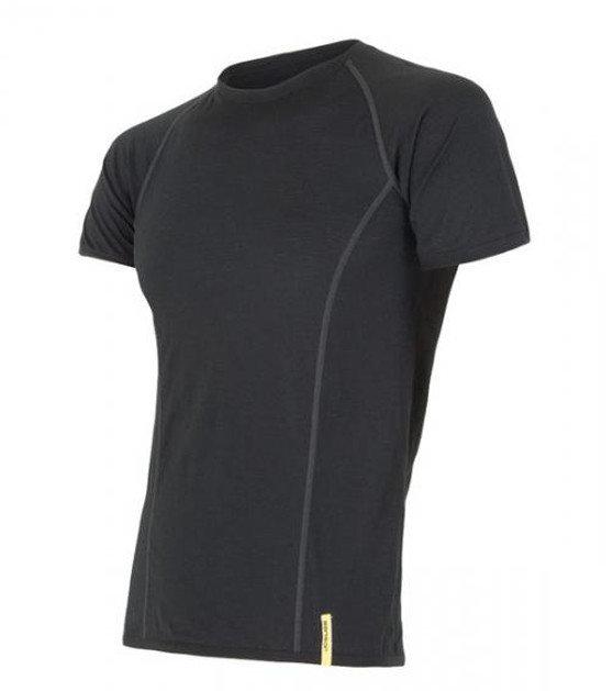 Černé pánské tričko s krátkým rukávem Sensor - velikost XL