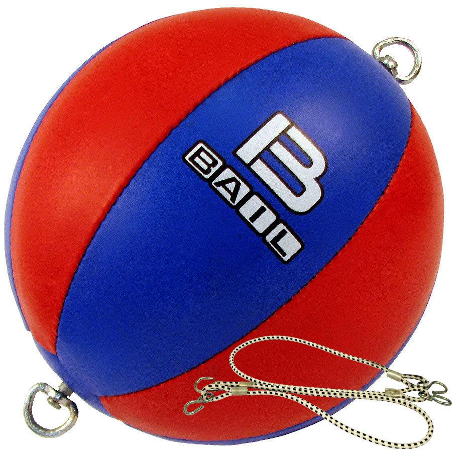 Červeno-modrý boxovací míč Bail
