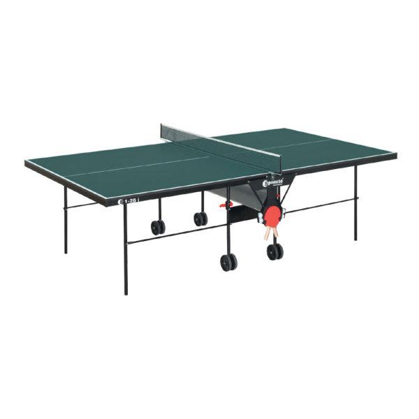 Zelený vnitřní stůl na stolní tenis S1-26i, Sponeta