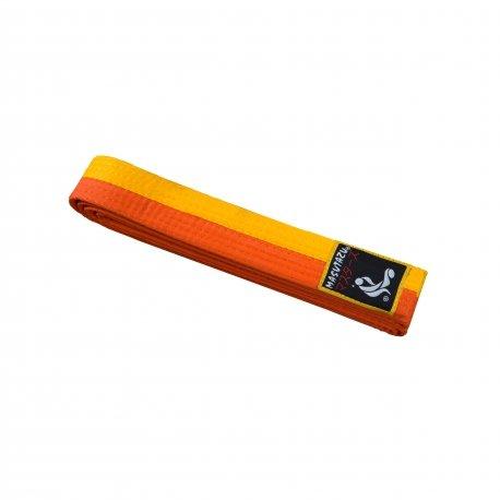 Oranžovo-žlutý judo pásek MASUTAZU