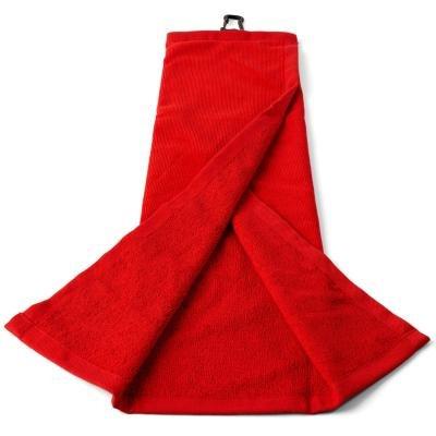 Červený golfový ručník Inesis