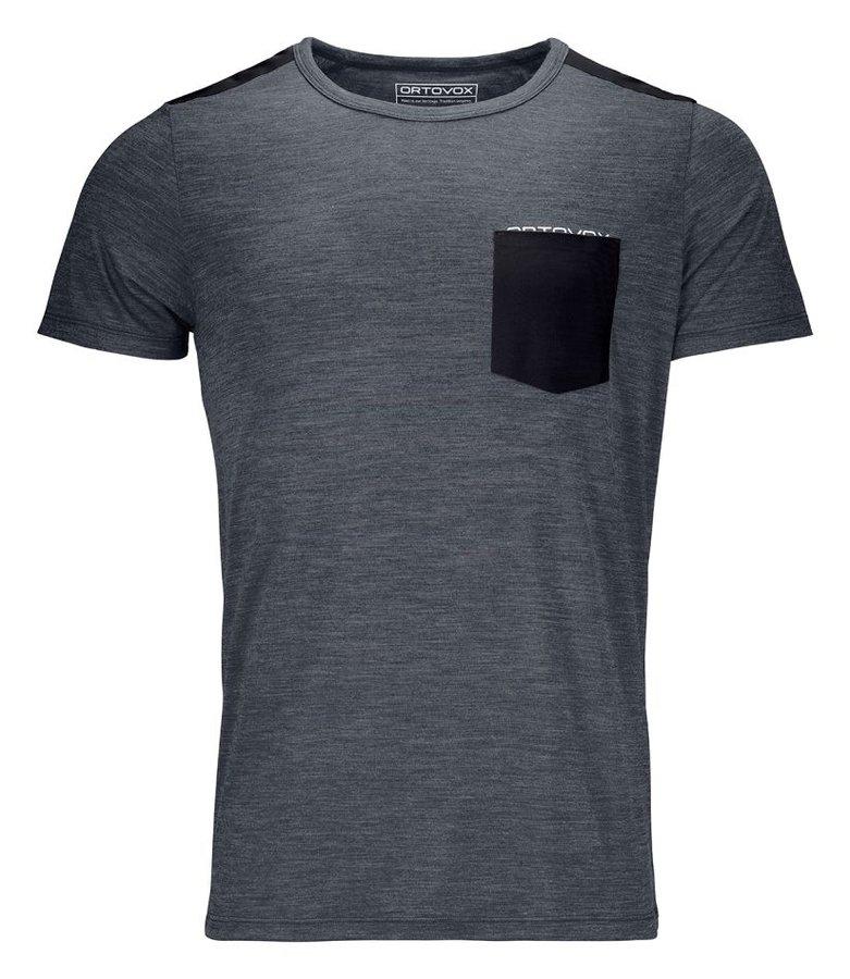 Šedé pánské turistické tričko s krátkým rukávem Ortovox