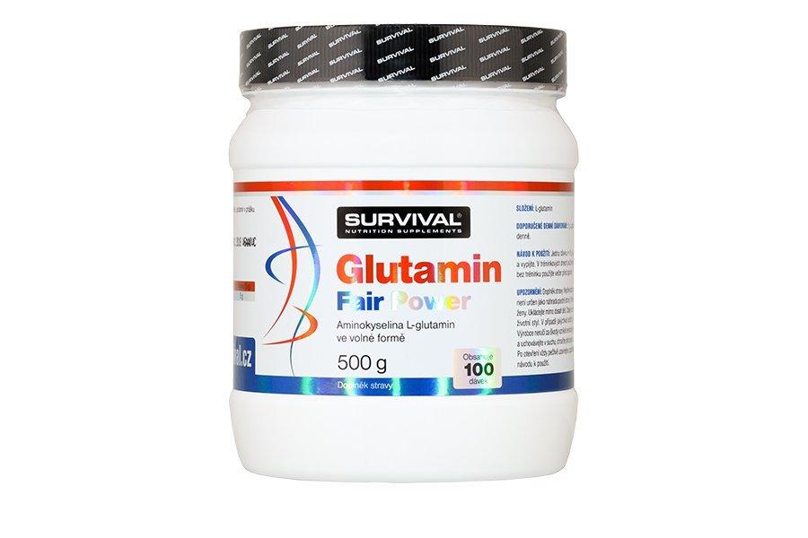 L-Glutamin - Survival Glutamin fair power 500 g