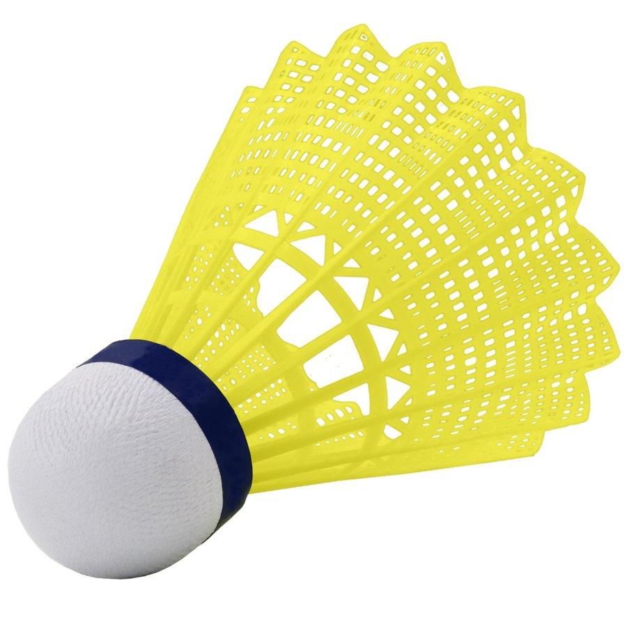 Žlutý plastový badmintonový míček Wish - 6 ks