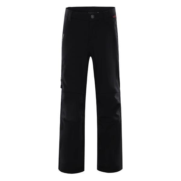 Černé softshellové dětské kalhoty Alpine Pro - velikost 140-146