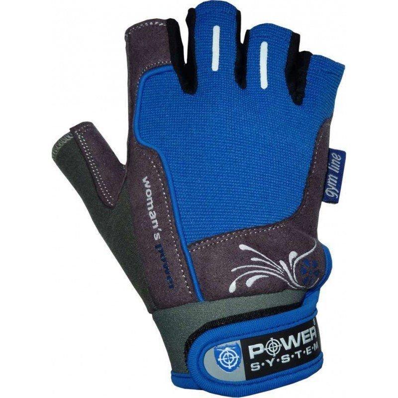 Modro-šedé dámské fitness rukavice Power System