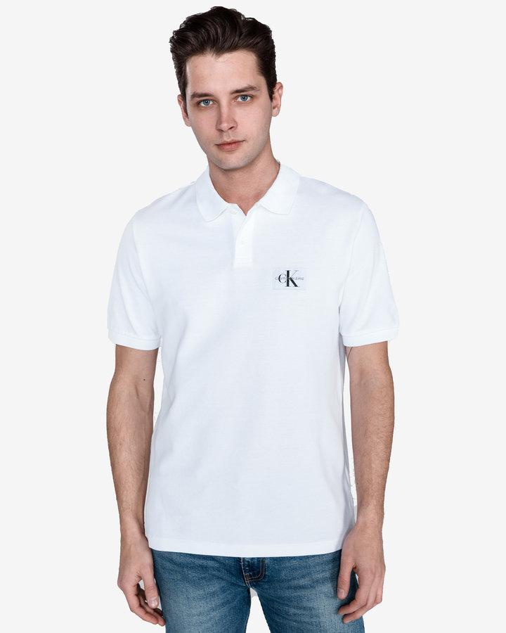 Bílá pánská polokošile s krátkým rukávem Calvin Klein