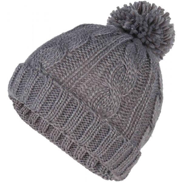 Šedá dívčí zimní čepice Lewro