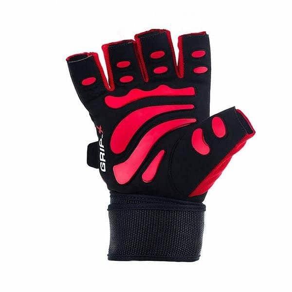 Černo-červené fitness rukavice Bushido - velikost XL