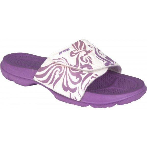 Bílo-fialové dívčí pantofle Aress