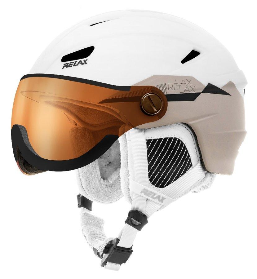 Bílá dámská lyžařská helma Relax