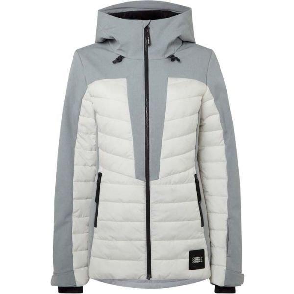 Bílo-šedá dámská lyžařská bunda O'Neill