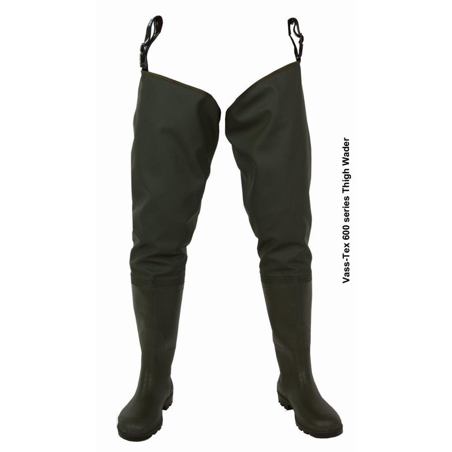 Khaki pánské brodící kalhoty VASS-TEX 600 SERIES, VASS - velikost 46 EU