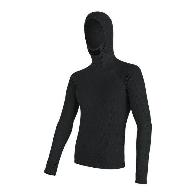 Černé pánské tričko s dlouhým rukávem Sensor