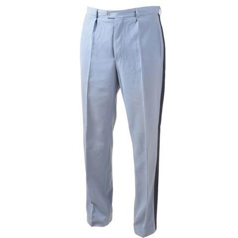 Kalhoty - Kalhoty hradní stráž s pruhem světle modré