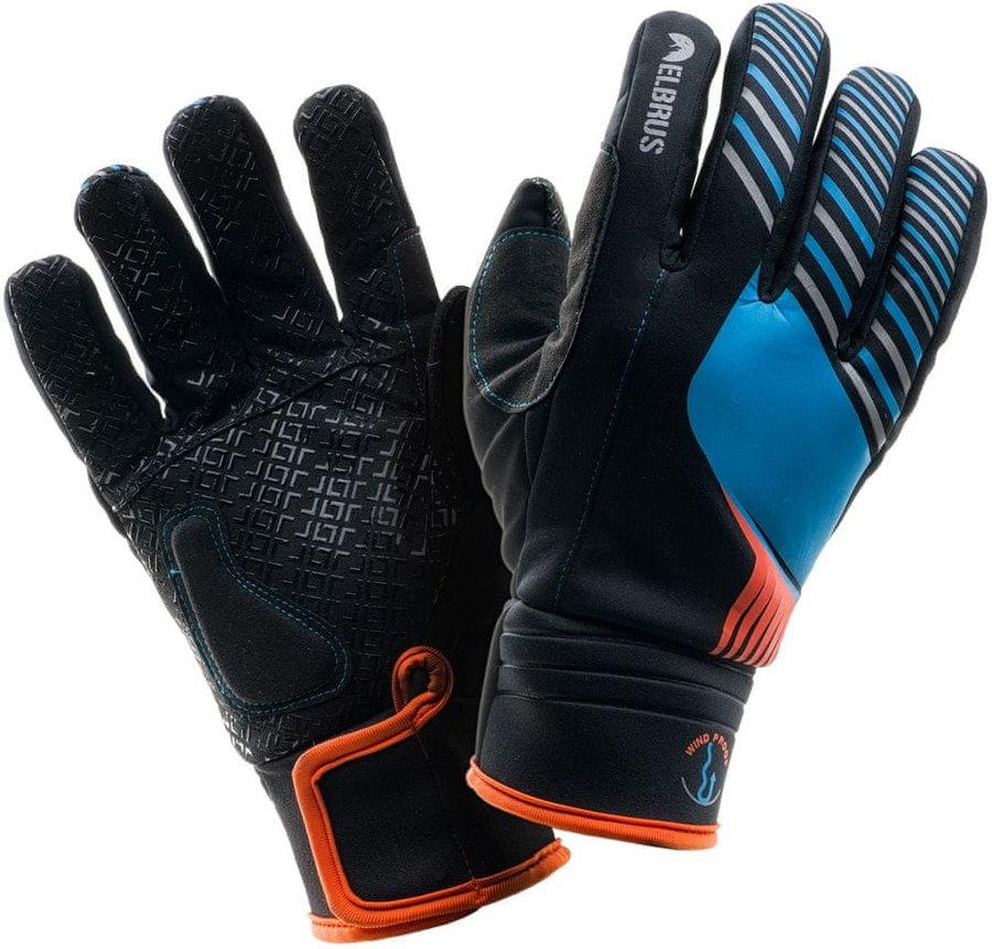 Černo-modré pánské lyžařské rukavice Elbrus