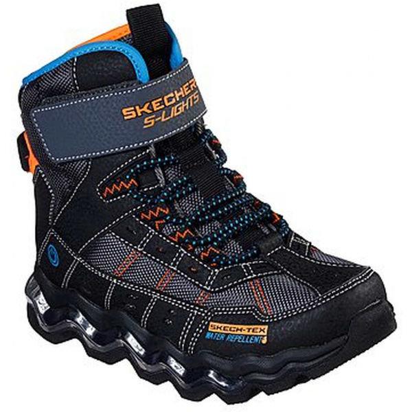 Černé chlapecké zimní boty Skechers