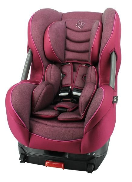 Růžová dětská autosedačka ERIS, Nania - nosnost 18 kg