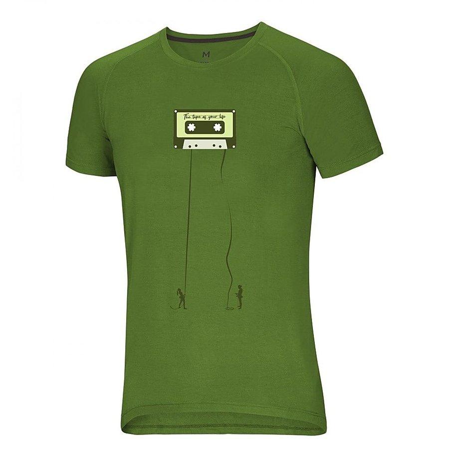 Zelené pánské turistické tričko s krátkým rukávem Ocún