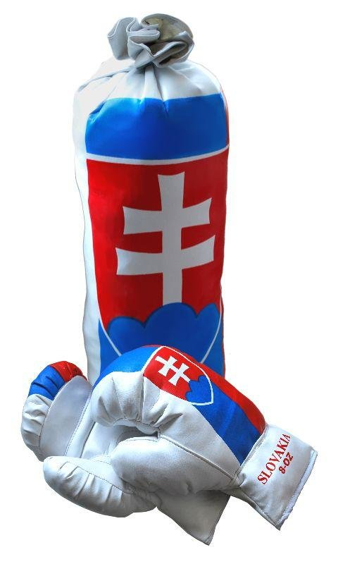 Různobarevná dětská boxovací sada Rulyt 1x pytel, 1x rukavice