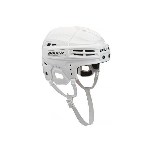Bílá hokejová helma Bauer