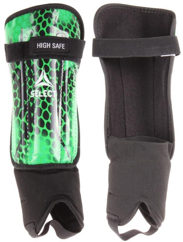 Fotbalové chrániče holení - High Safe fotbalové chrániče s kotníkem barva: zelená;velikost oblečení: S