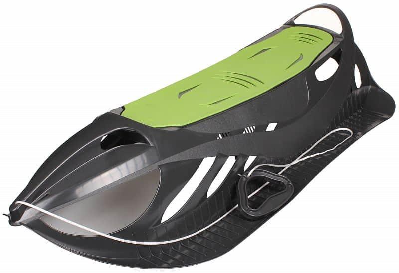 Černo-zelené plastové dětské sáňky Merco