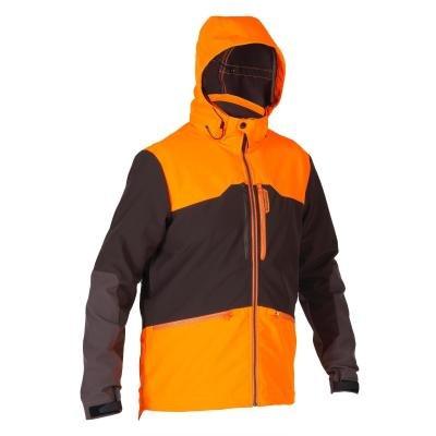 Hnědo-oranžová lovecká bunda Solognac