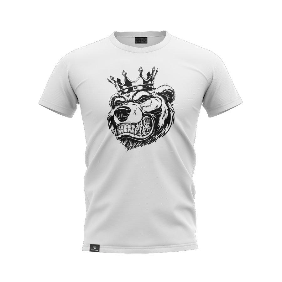 Bílé pánské tričko s krátkým rukávem Grizzly Gear