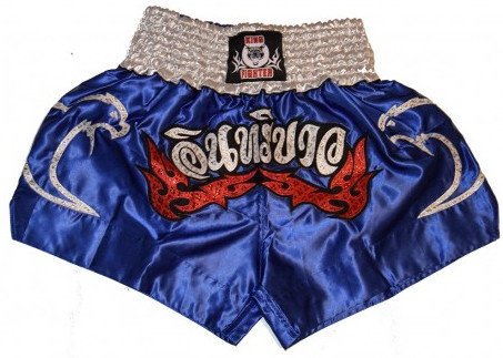 Modré thaiboxerské trenky King fighter