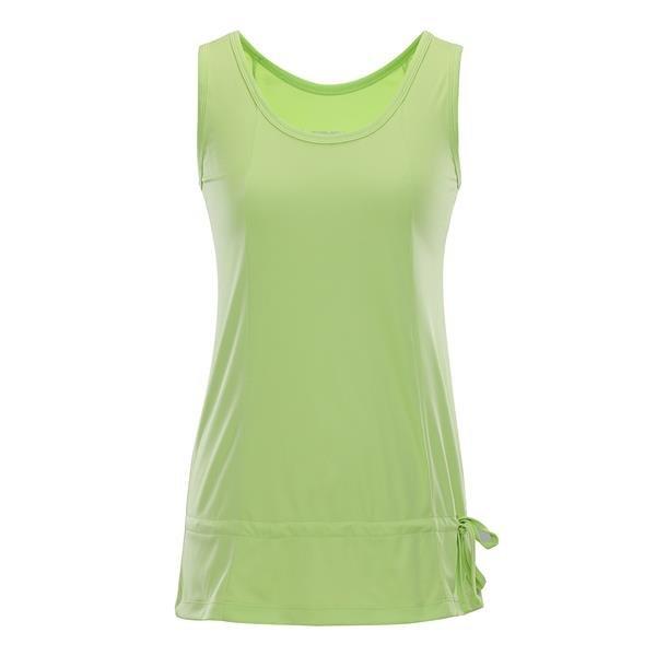 Zelené dámské tričko bez rukávů Alpine Pro - velikost XS